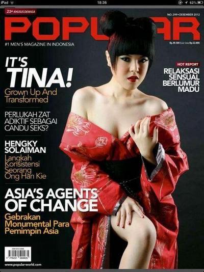 Foto Hot Sexy Tina Toon di Majalah Popular