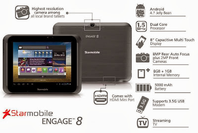 StarMobile Engage 8 Specs