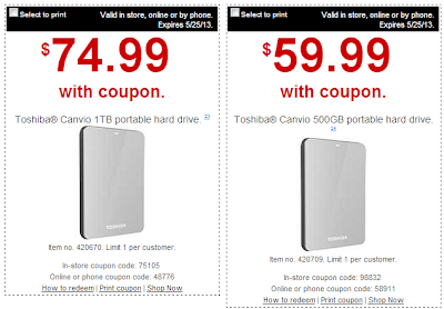 staples hard drive coupon