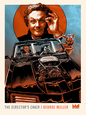 "Mad Max Fury Road ""Director's Chair with George Miller"" Screen Print by Tim Doyle x Joshua Budich x El Ray"