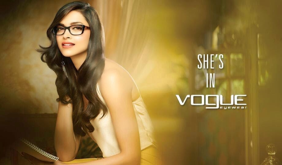 Deepika Padukone white shirt and yellow skirt in Vogue Eyewear