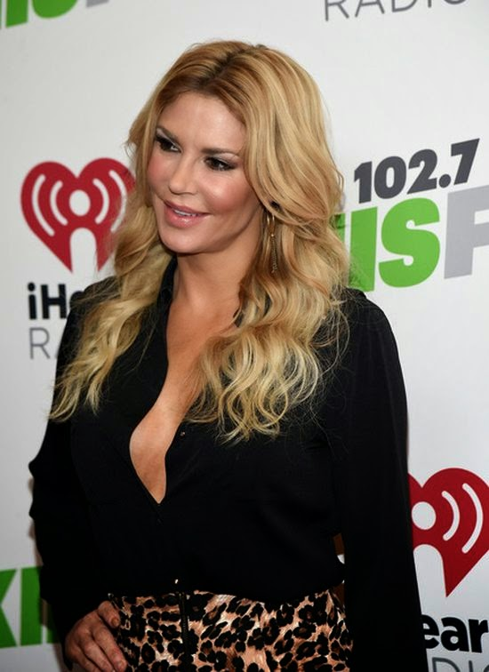Brandi Glanville looked radiant in a tiger shorts as she attended the KIIS FM's Jingle Ball as Staples Center at Los Angeles, CA, USA on Friday, December 5, 2014.