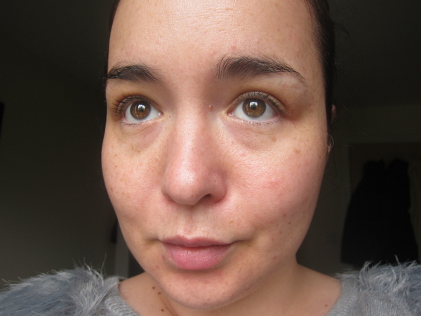 Kiehl's BB Cream Before and After - the Before Shot!