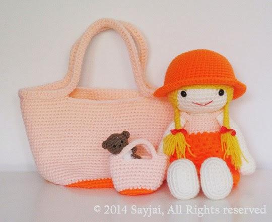 Amigurumi Doll Book : New dress up dolls sayjai amigurumi crochet patterns k and j