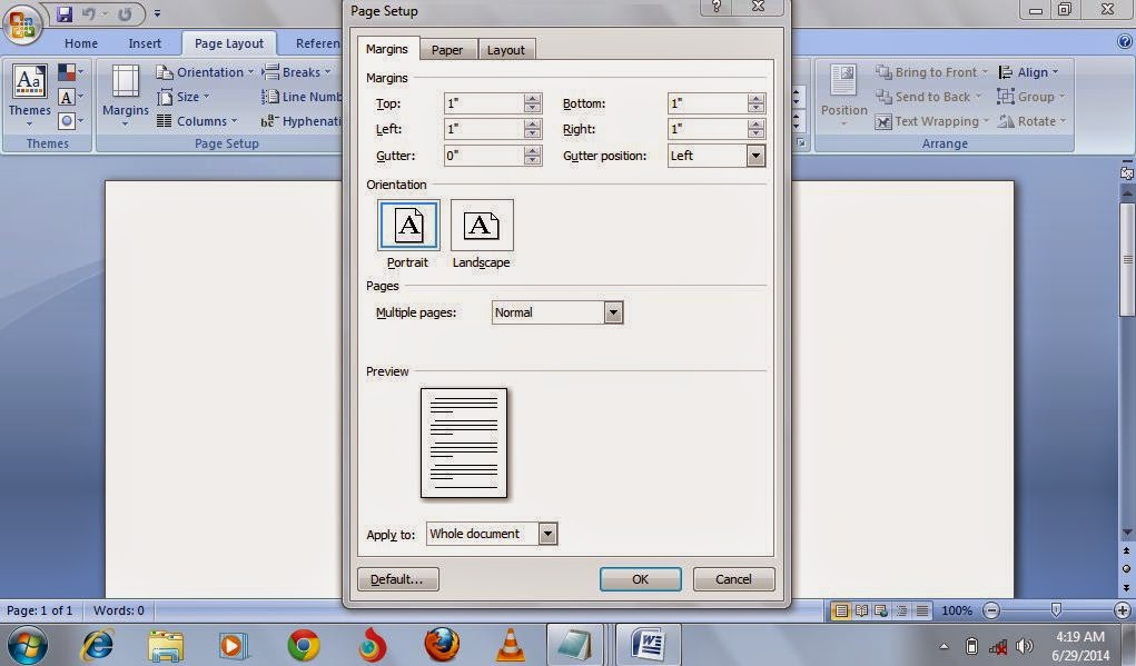 how to move the margin in microsoft word