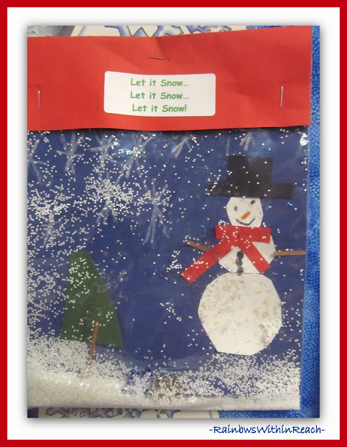 Kindergarten Snow Globe Snowman in a Plastic Bag