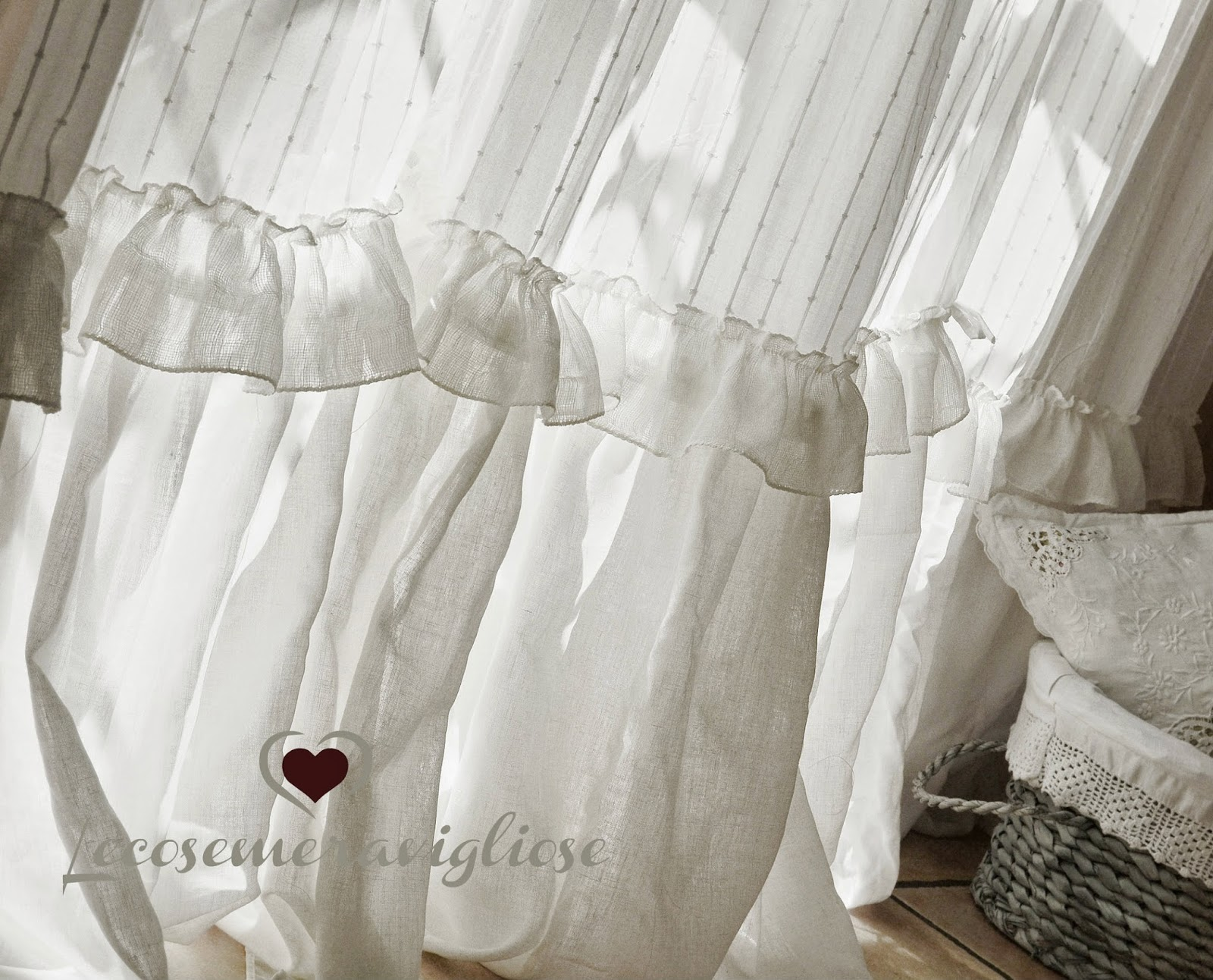 Tende soggiorno shabby: shabby chic window curtains floral curtain ...