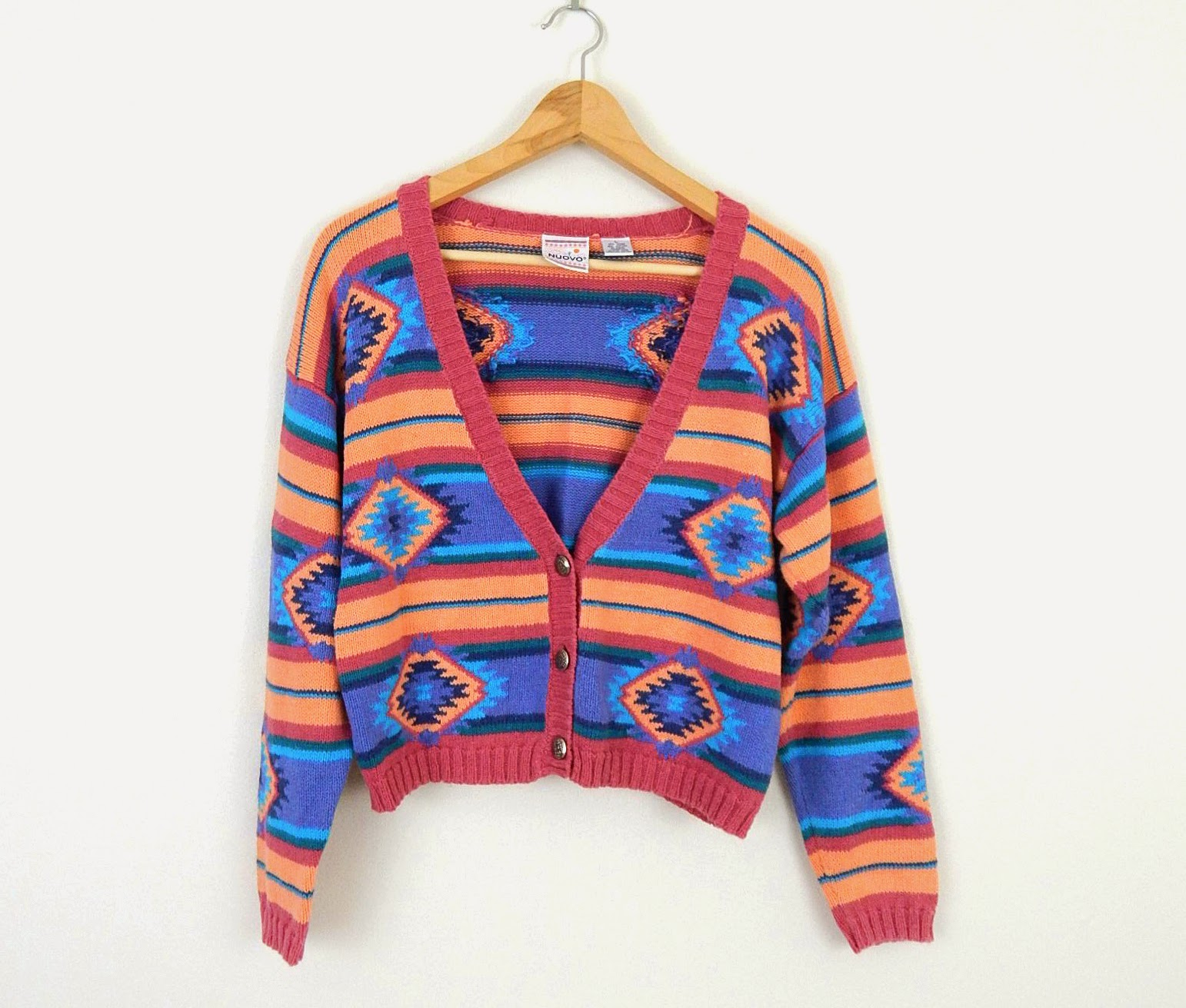https://www.etsy.com/listing/164458317/vintage-womens-sweater-colorful-aztec?