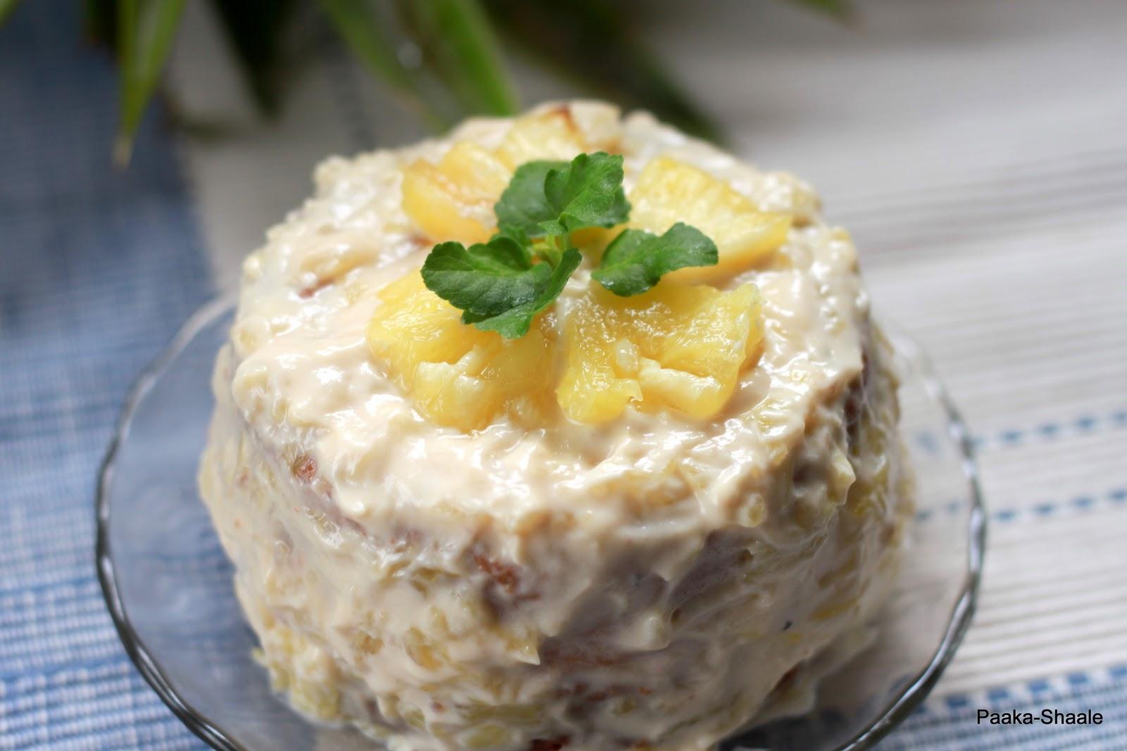 Paaka-Shaale: Pina Colada cake