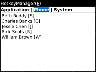 HotkeyManager v1.8 for BlackBerry