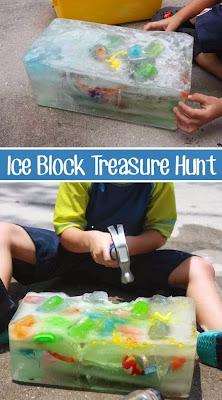 ondeugende spruit ijspret spelen met ijs