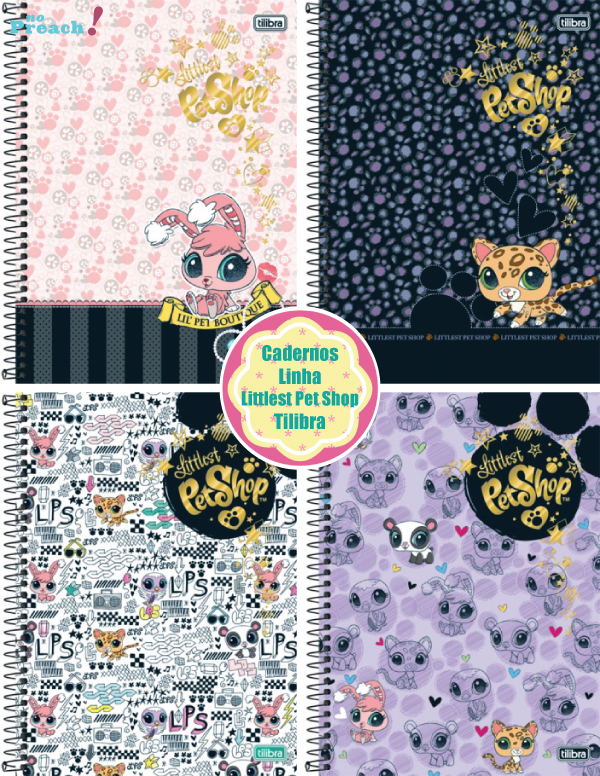 Volta ás aulas: Cadernos linha littlest pet shop tilibra 2013
