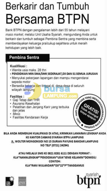 Recruitment PT. Bank Tabungan Pensiunan Nasional Tbk, Sabtu, 08 November 2014