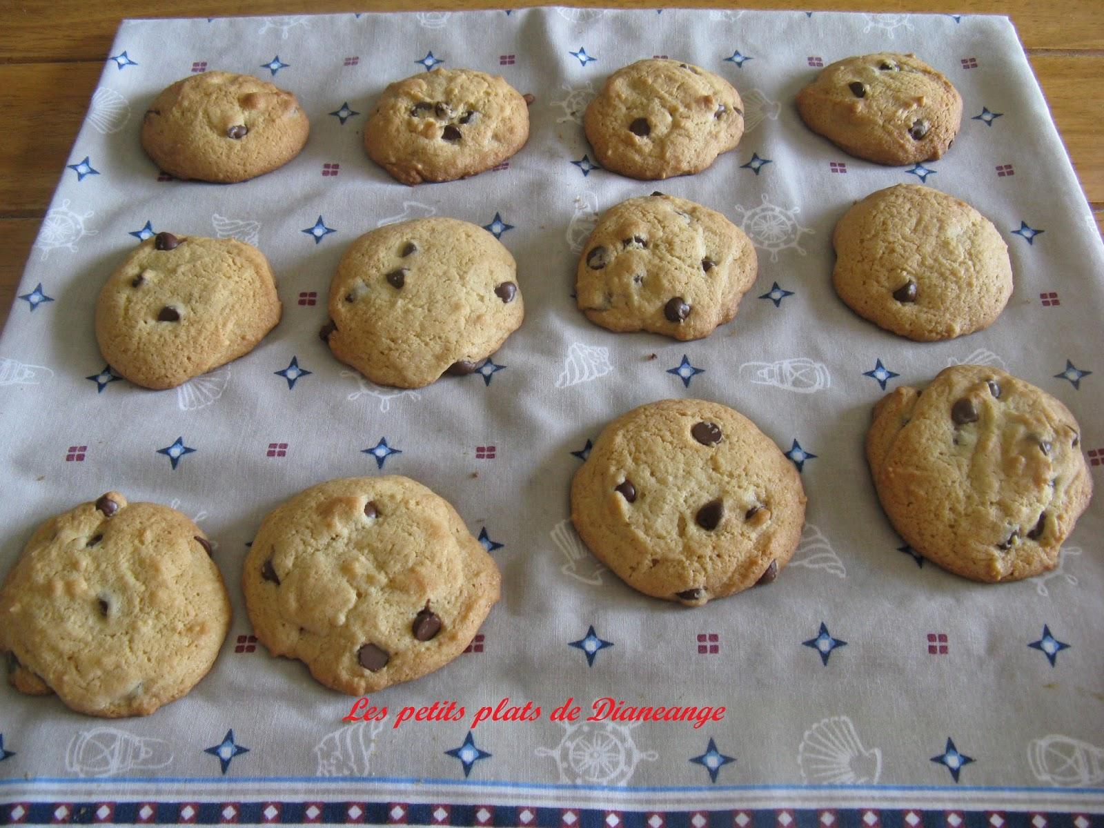 les petits plats de diane ange biscuits aux grains de chocolat. Black Bedroom Furniture Sets. Home Design Ideas