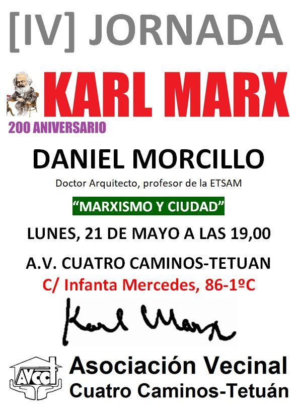 21 de mayo Sigue el Ciclo de Karl Marx en Tetuán
