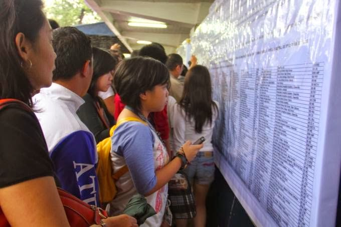 Ateneo Entrance Exam ACET results AY 2015-2016 release in January 2015