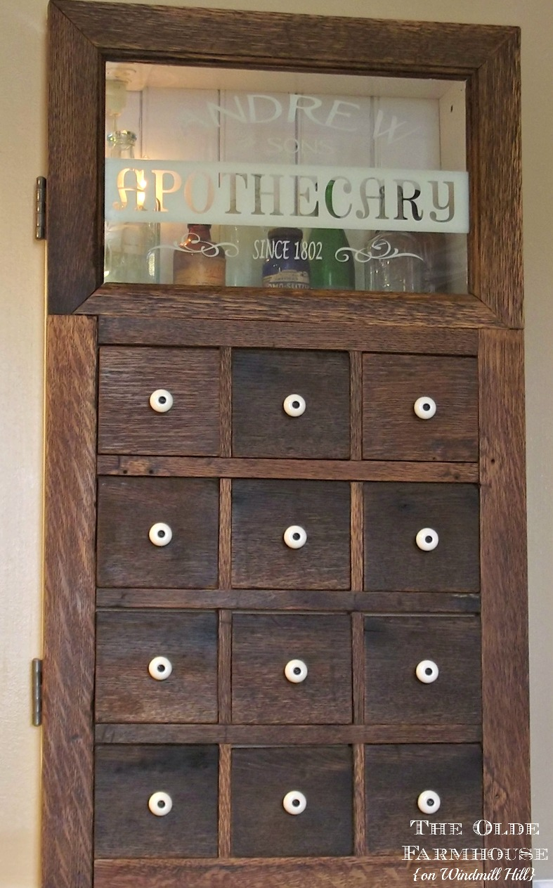 The Olde Farmhouse on Windmill Hill: Apothecary Medicine Cabinet ...
