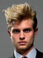 Coupe de cheveux avec meche blonde homme - Coupe homme meche blonde ...