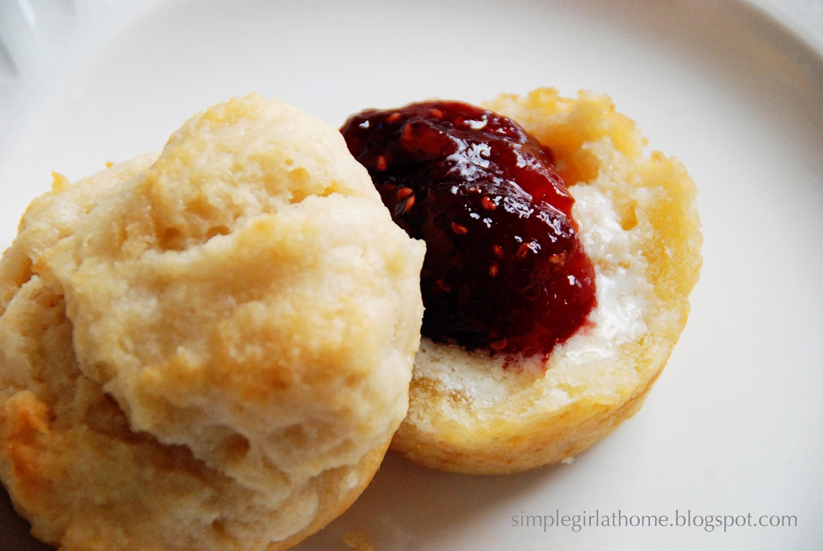 Simple Girl: Sweet Sour Cream Biscuits