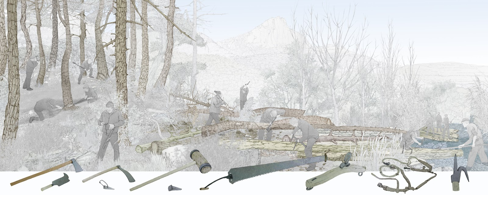 la tala del bosque
