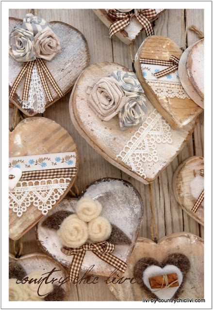Cuori di legno craft pinterest for Wooden hearts for crafts
