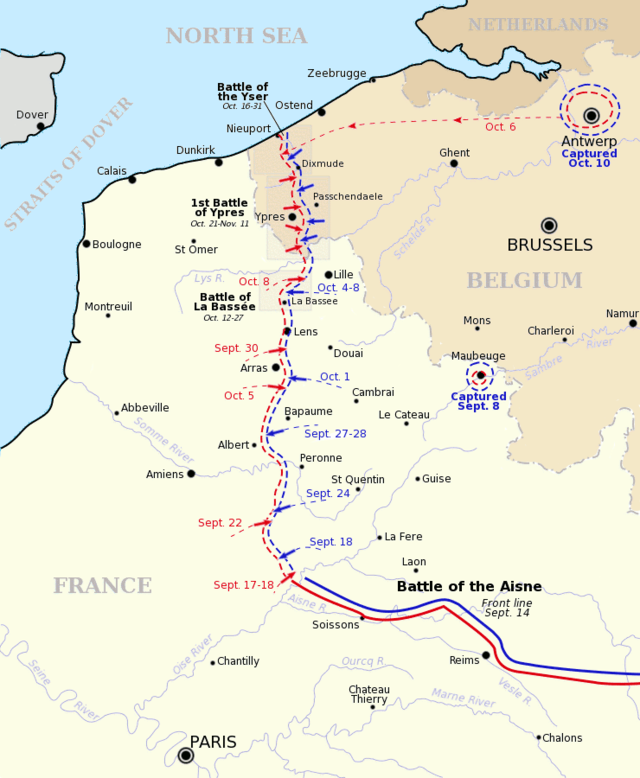 http://en.wikipedia.org/wiki/First_Battle_of_the_Aisne#mediaviewer/File:Race_to_the_Sea_1914.png