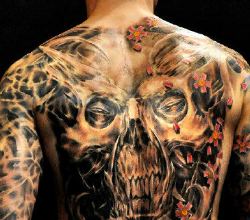 body art example tattoo full on body