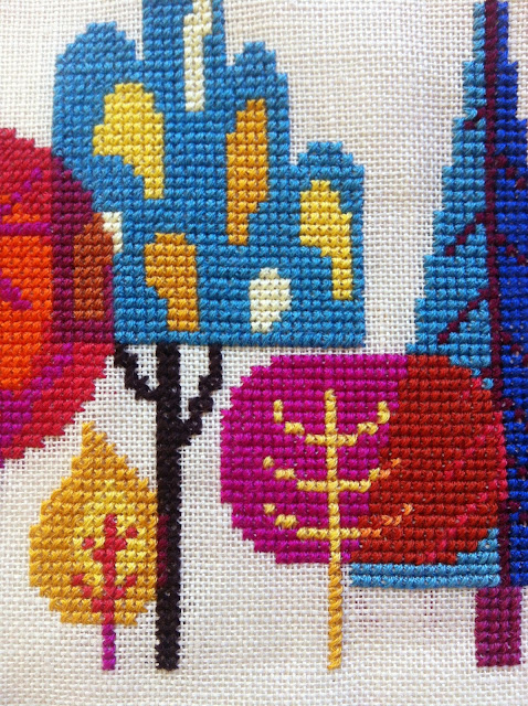 satsuma_street_forest_trees_cross_stitch_embroidery_pattern autumn fall foliage xstitch