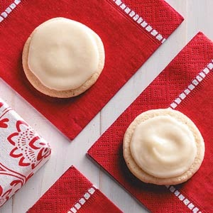 Frosted Eggnog Cookies, Taste of Home, 50 calories