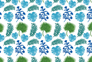 The Palm Leaves Pattern by Haidi Shabrina
