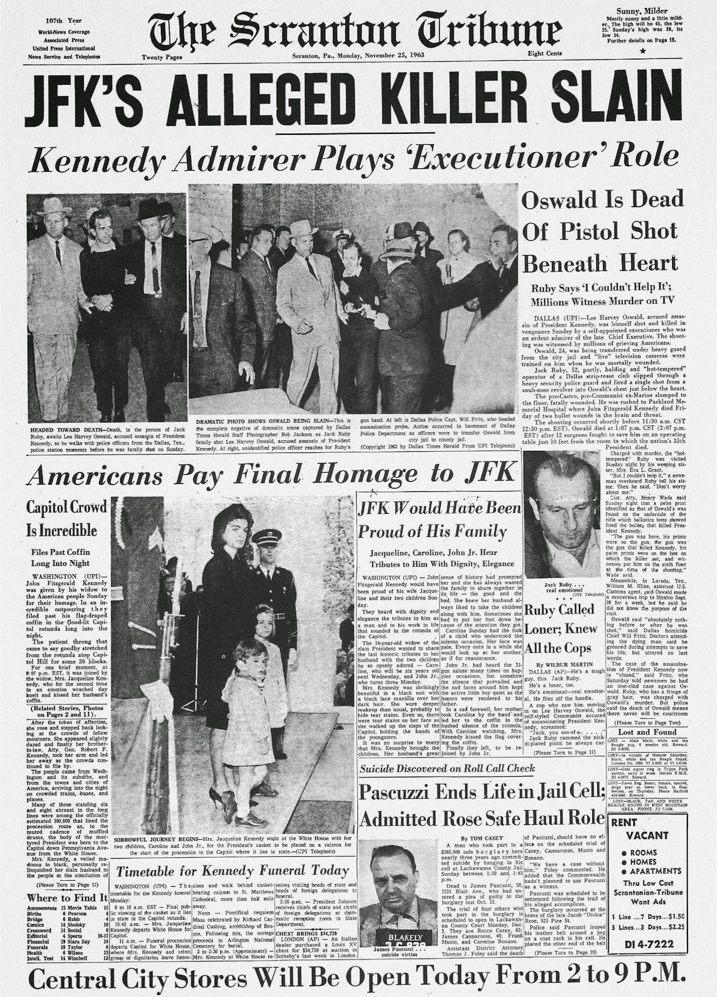 [Scranton-Pennsylvania-Newspaper-Front-Page-November-25-1963.jpg]