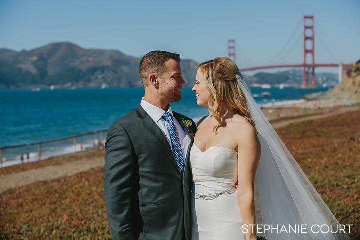 baker beach wedding photos