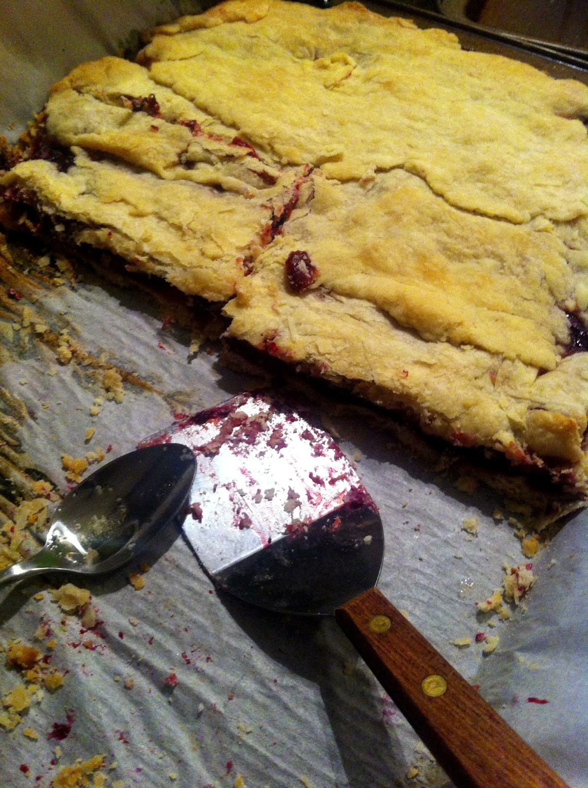 Bear Country Kitchen: Sour Cherry Slab Pie