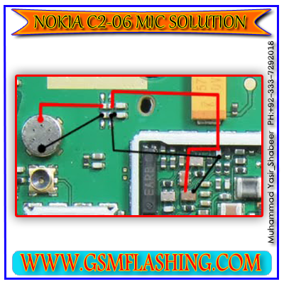 Nokia C2-06 Mic Problem 100% Ok Jumper Solutions