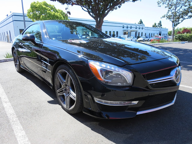 Mercedes-Benz SL63 AMG bumper repair at Almost Everything Auto Body
