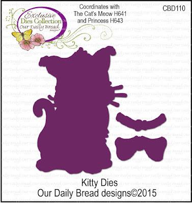 Our Daily Bread Designs Custom Dies: Kitty