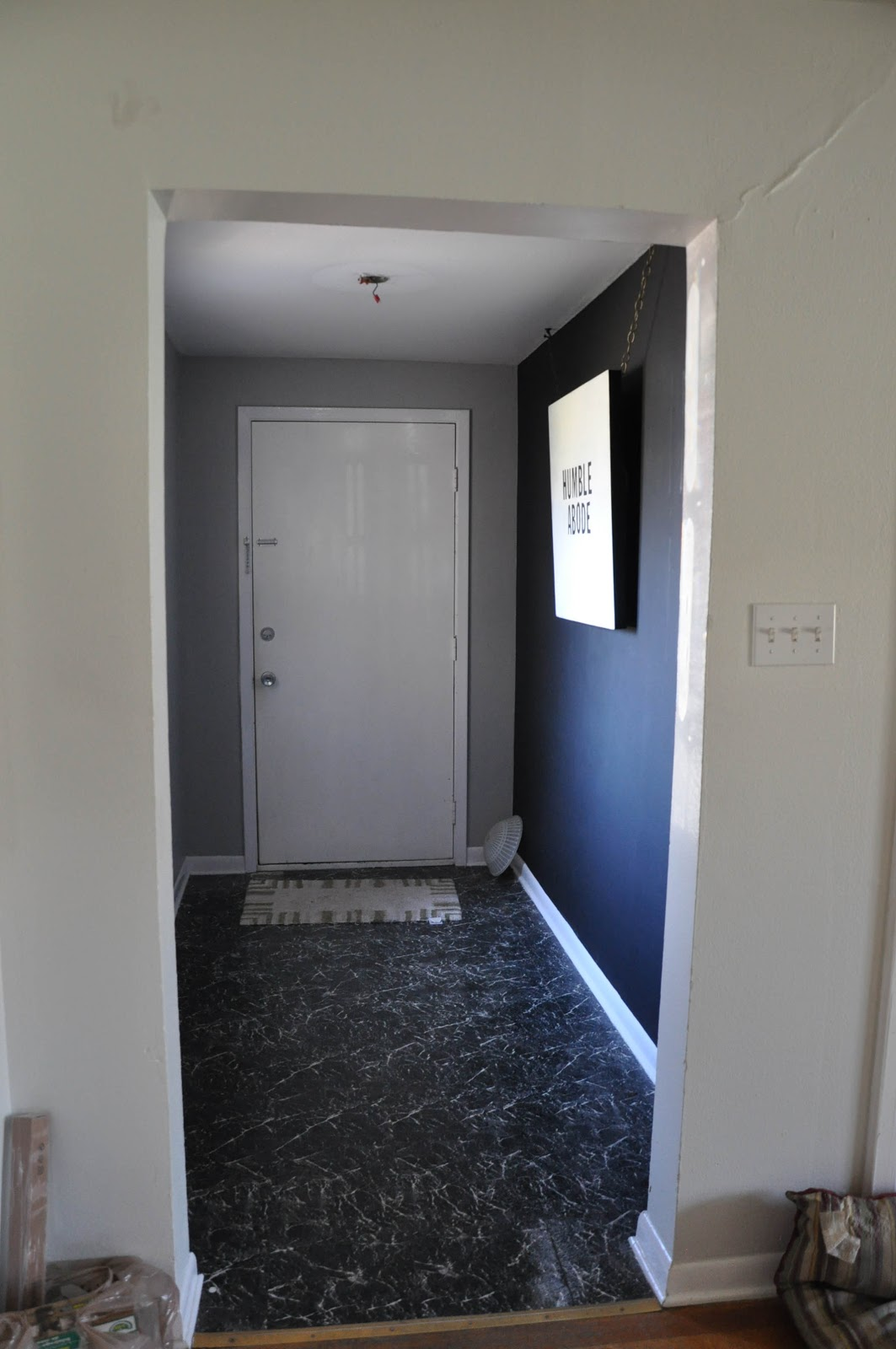Hallway makeover for Chalk paint at sherwin williams