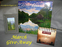 March Giveaway For Current and New Followers