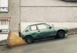 Travão de carros mais eficaz para estacionar em descidas