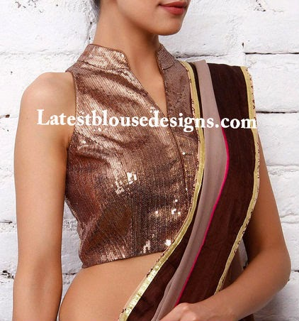 sequins saree blouse
