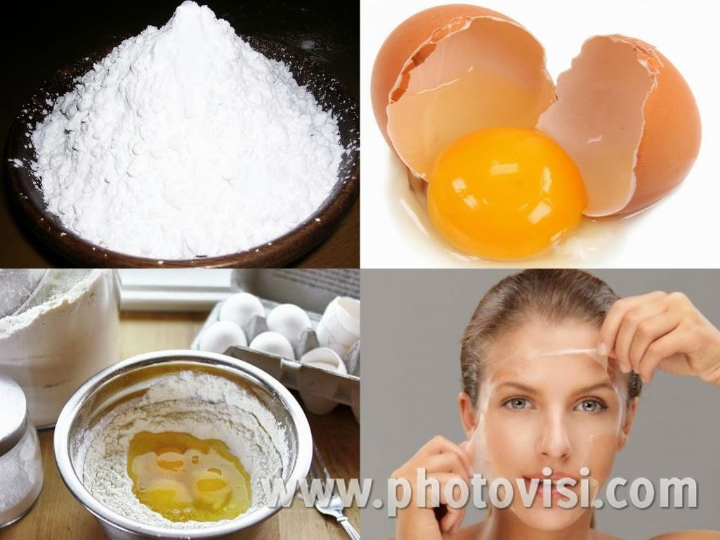 البيض و النشا لتتخلصي من شعرالوجه