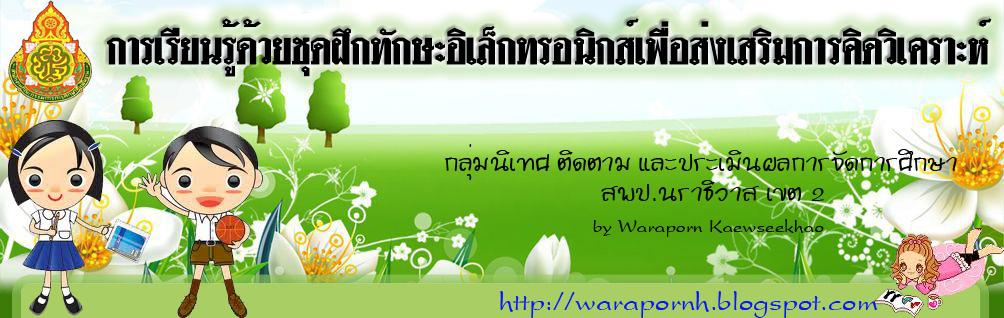 Blog:การพัฒนาชุดฝึกทักษะอิเล็กทรอนิกส์ด้านการอ่านภาษาไทยแบบคิดวิเคราะห์