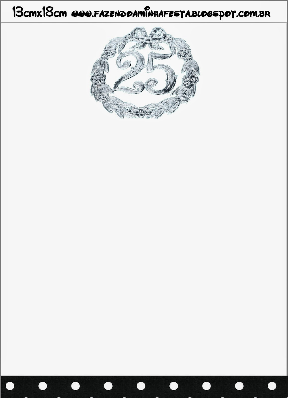 photo relating to Free Anniversary Printables named 25th. Anniversary: Cost-free Printable Envelope and Invitation
