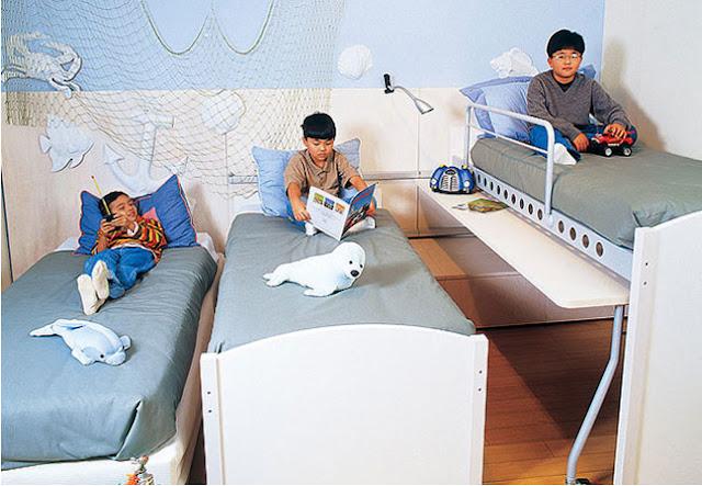 DORMITORIO CELESTE PARA 3 HERMANOS by dormitorios.blogspot.com