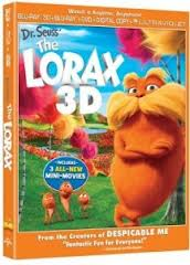 The Lorax DVD case