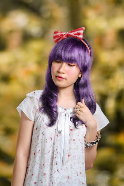 kawaii purple hair