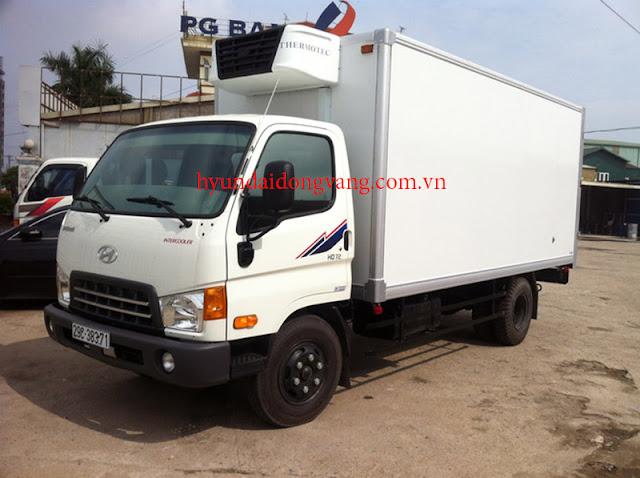 Xe tải hyundai hd72 thùng đông lạnh
