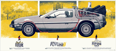 Back to the Future Trilogy Screen Print Variant by Phantom City Creative