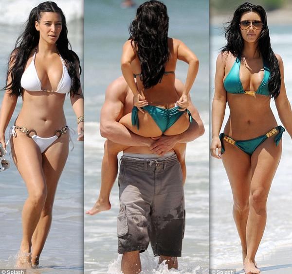 Daily Erin Andrews:Check Out a Bikini Clad Kim Kardashian Hanging with Kris ...