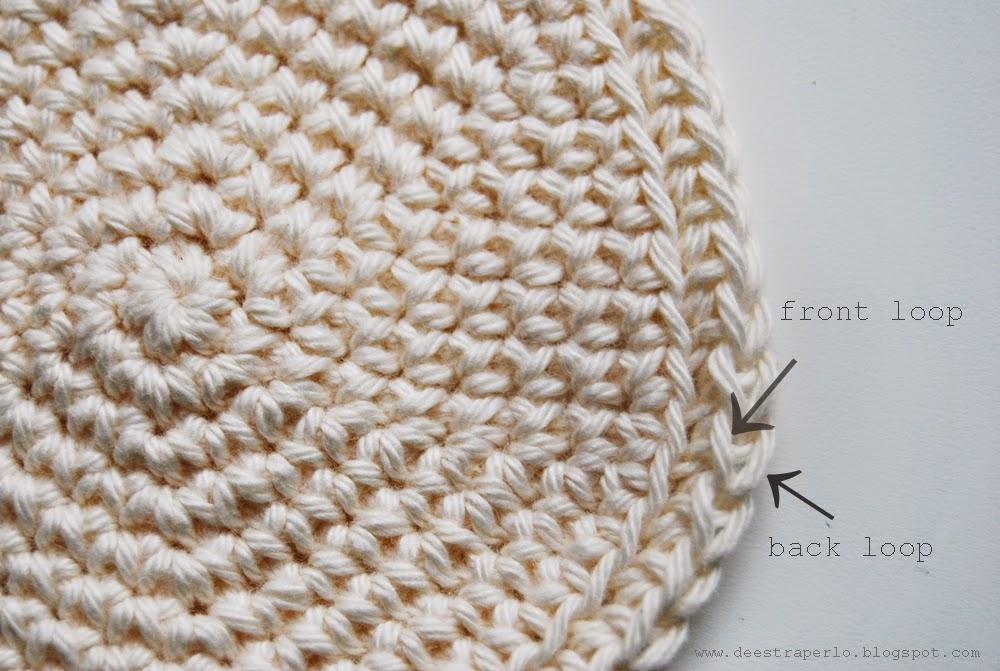 De Estraperlo: Crochet in front loop and back loop